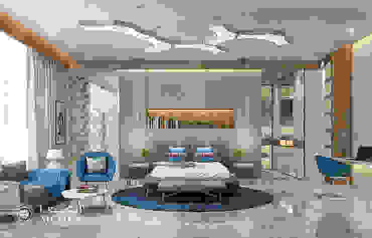 تصميم داخلي لغرفة نوم لفيلا ديلوكس على الطراز المعاصر من Algedra Interior Design حداثي