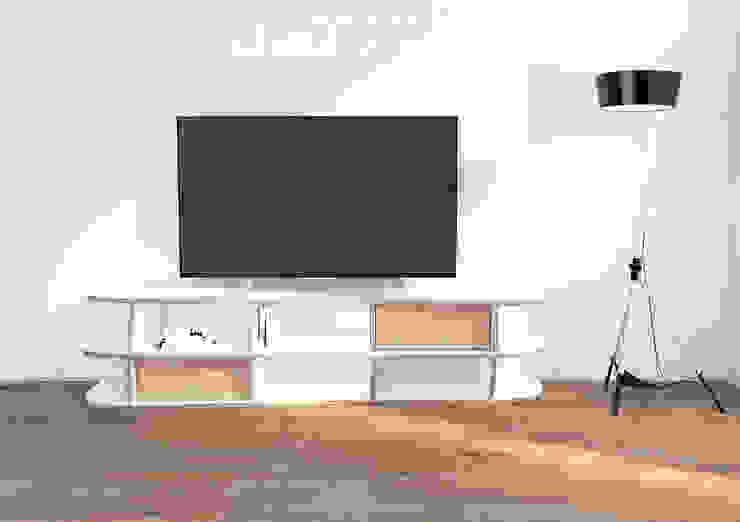TV-Lowboard Emilia: modern  von form.bar,Modern Holzwerkstoff Transparent