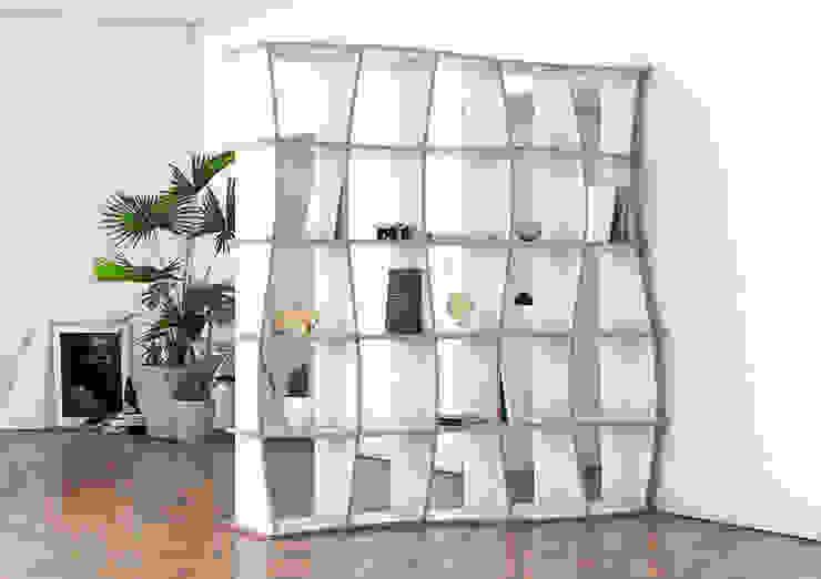 Raumteiler Maliya von form.bar Ausgefallen Holzwerkstoff Transparent