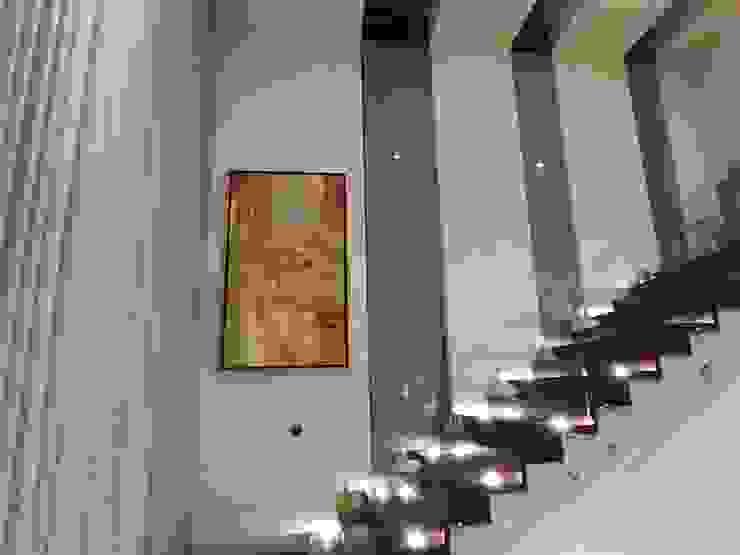 Obra personalizada Gabriela Villarreal Galeria de arte Escaleras Ámbar/Dorado