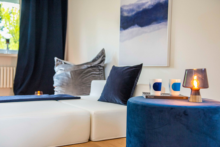 Ruang Media Modern Oleh Münchner home staging Agentur GESCHKA Modern