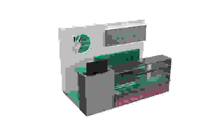 Diseño de stand para Senthia de Nuvú - Lideres en espacios comerciales.