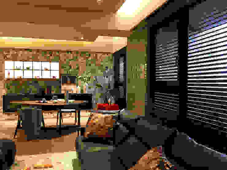 中西合璧的優雅新古典美宅| 百葉簾.蜂巢簾 空間構成:安得利設計藝術公司 根據 MSBT 幔室布緹 古典風 實木 Multicolored