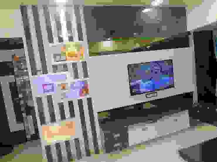 tv unit: modern  by AXLE INTERIOR,Modern Plywood