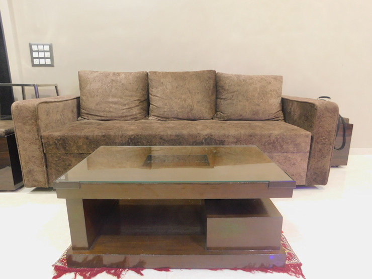 sofa set: modern  by AXLE INTERIOR,Modern Fake Leather Metallic/Silver