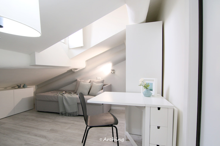 Arching - Architettura d'interni & home staging Modern living room Grey