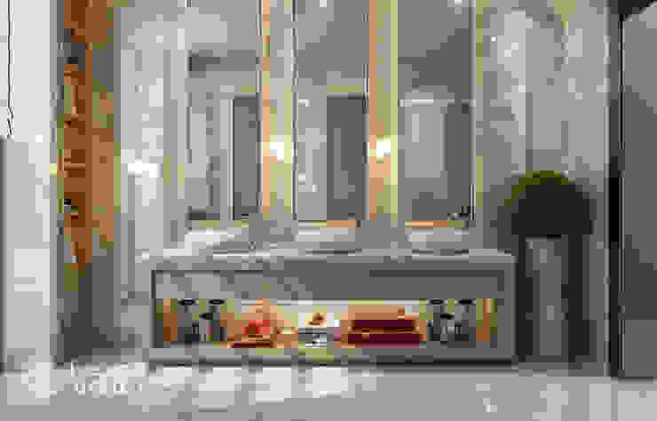 تصميم حمام فيلا ديلوكس على الطراز المعاصر من Algedra Interior Design حداثي