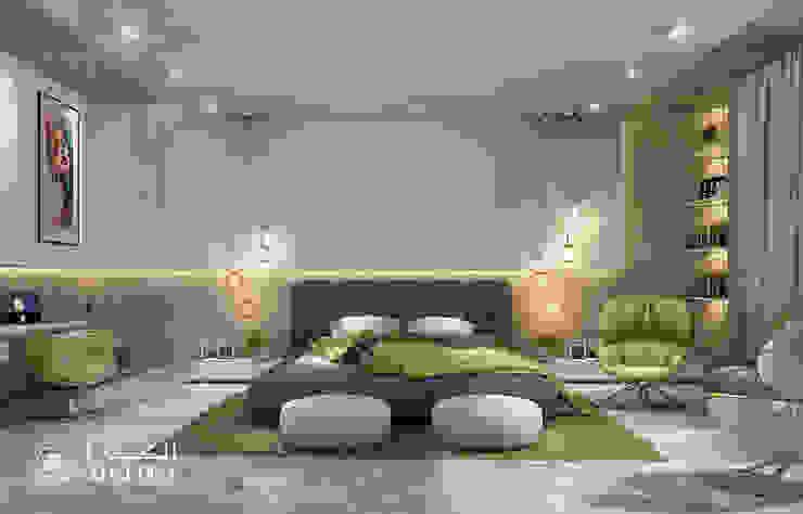 تصميم غرفة نوم فيلا ديلوكس على الطراز المعاصر من Algedra Interior Design حداثي