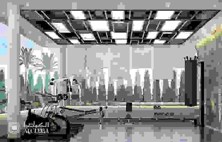 """تصميم صالة الألعاب الرياضية """"جيم"""" لفيلا ديلوكس معاصرة من Algedra Interior Design حداثي"""