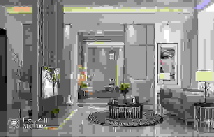 جلوس غرفة النوم الرئيسية لفيلا ديلوكس معاصرة من Algedra Interior Design حداثي