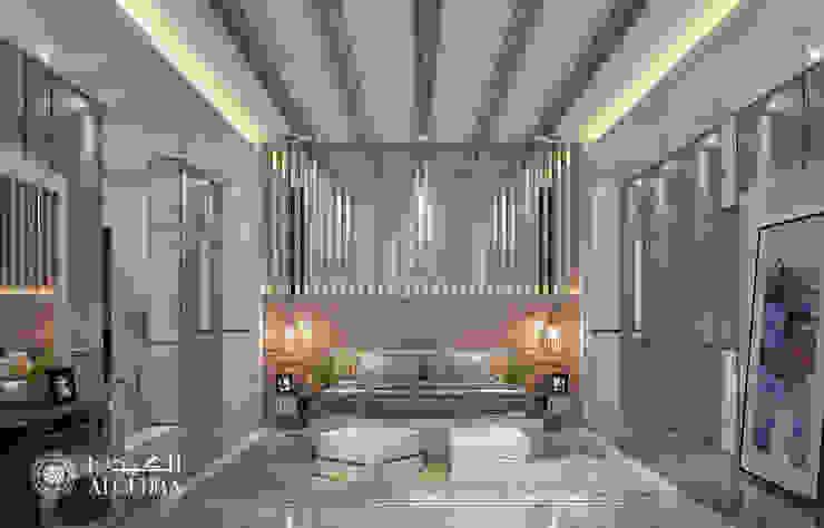 غرفة النوم الرئيسية لفيلا ديلوكس معاصرة من Algedra Interior Design حداثي