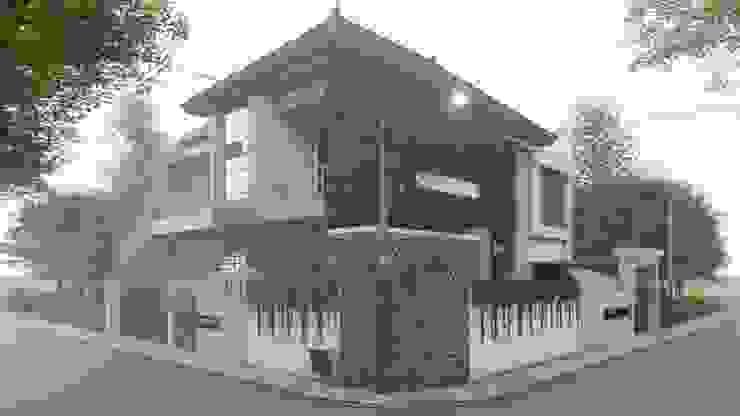 perspektif 1 Rumah Tropis Oleh ARK-chitect studio Tropis