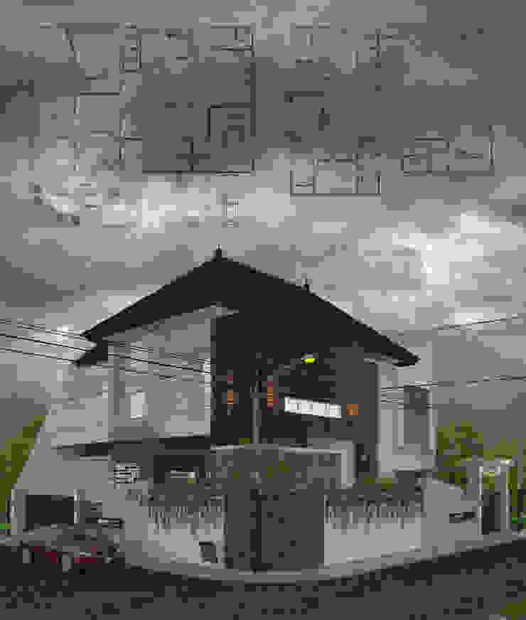 perspektif 2 Rumah Tropis Oleh ARK-chitect studio Tropis