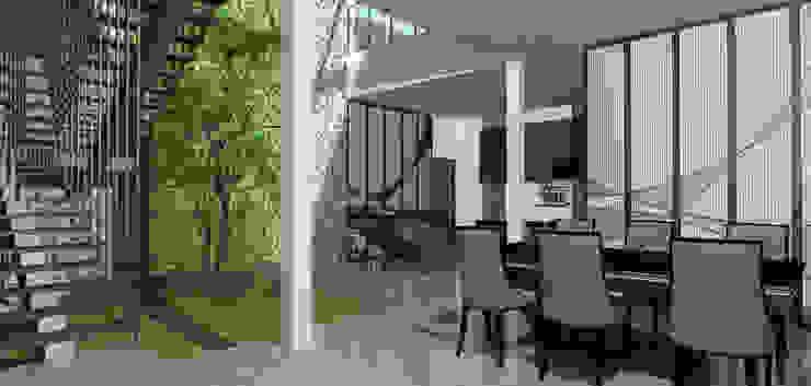 living room Ruang Makan Tropis Oleh ARK-chitect studio Tropis
