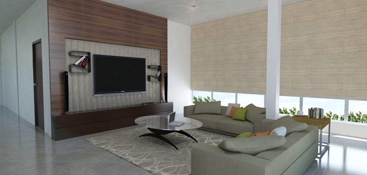 ruang keluarga Ruang Keluarga Tropis Oleh ARK-chitect studio Tropis