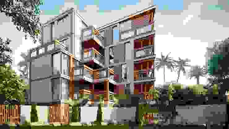 Casas de estilo mediterráneo de Компания архитекторов Латышевых 'Мечты сбываются' Mediterráneo