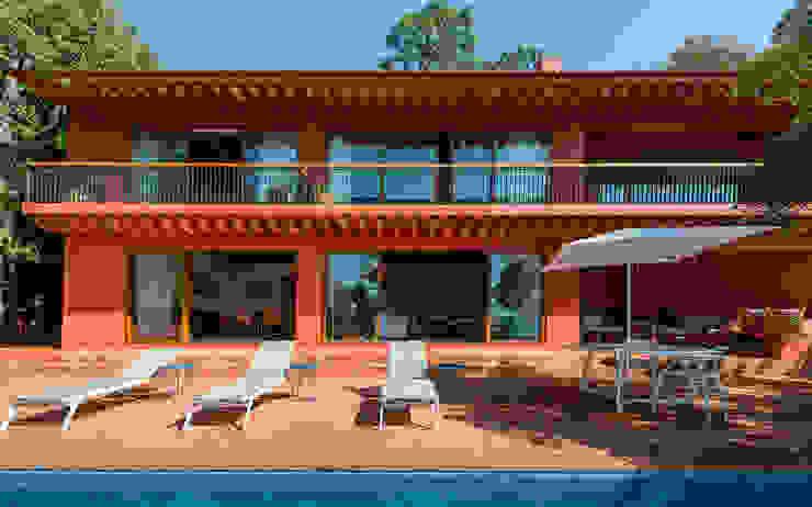 Casa de campo en Valle del Bravo - Casa La Joya ONCE ONCE ARQUITECTURA Casas rústicas