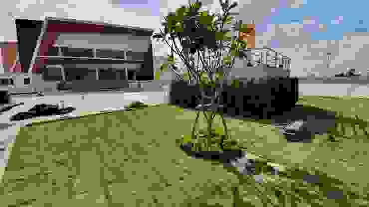 จัดสวนบริเวณศาลพระพรหม Trimitcivil&engineering สวน