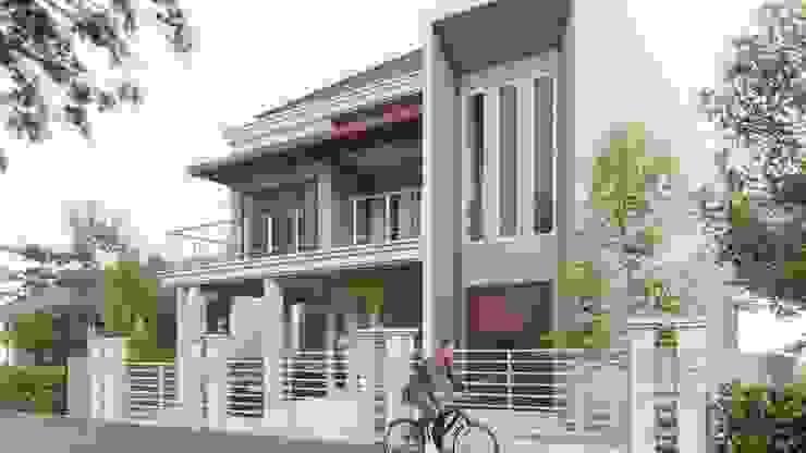 perspektif 3 Rumah Gaya Industrial Oleh ARK-chitect studio Industrial