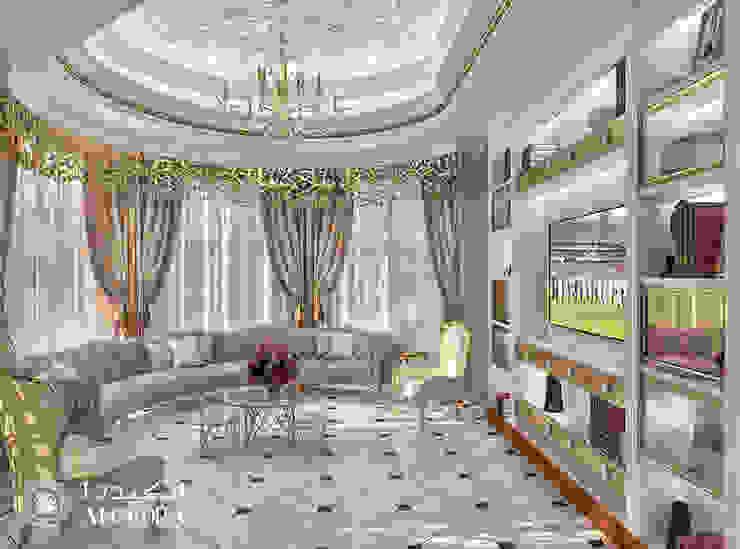 Living room interior for Classic Style Villa in Abu Dhabi by Algedra Interior Design Classic