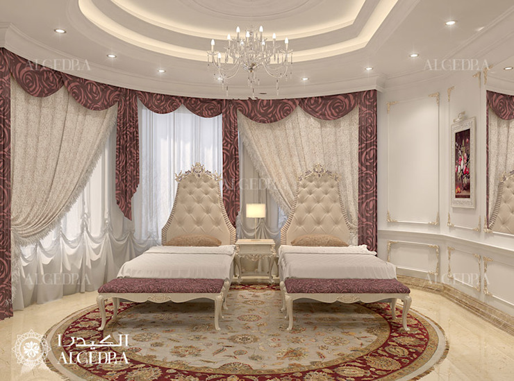 Kids Bedroom interior design for Luxury Classic Style Villa in Abu Dhabi Classic style conservatory by Algedra Interior Design Classic