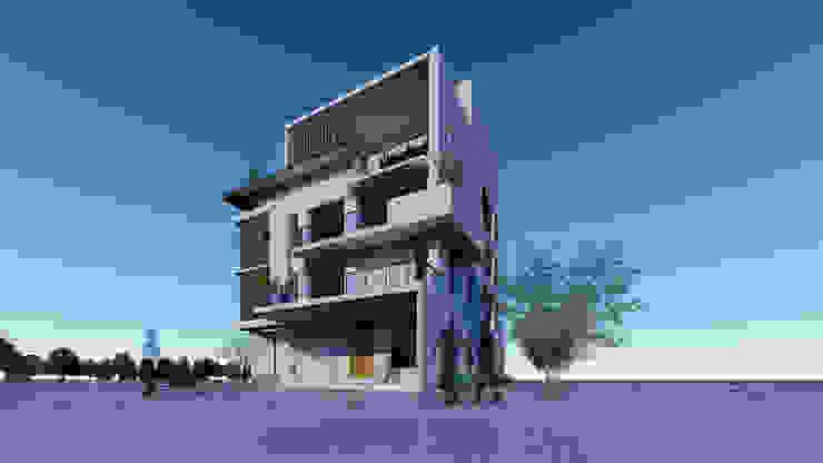 合作專案(立面設計) 現代房屋設計點子、靈感 & 圖片 根據 尋樸建築師事務所 現代風