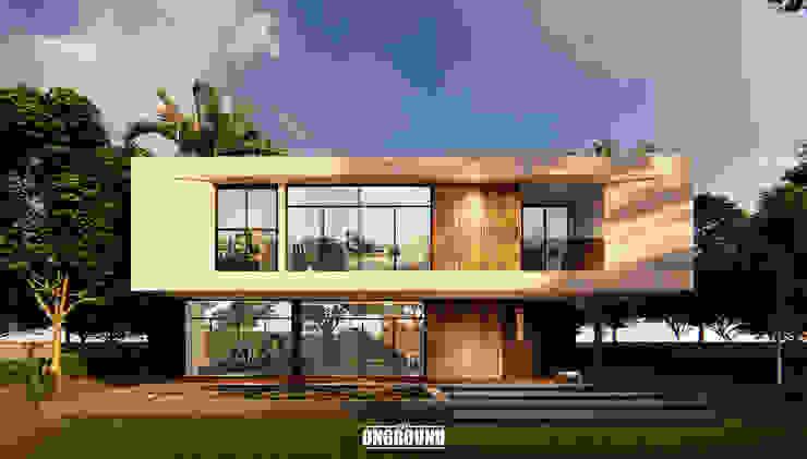 3P House โดย The OnGround บริษัทรับสร้างบ้านสไตล์ Modern Japanese มินิมัล