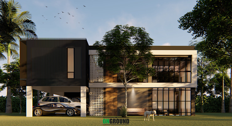 3F House โดย The OnGround บริษัทรับสร้างบ้านสไตล์ Modern Japanese โมเดิร์น