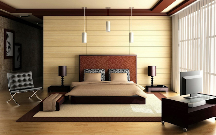 3 BHK flat@ Sarjapur for Mr.Rahul Redpost Interiors Modern style bedroom