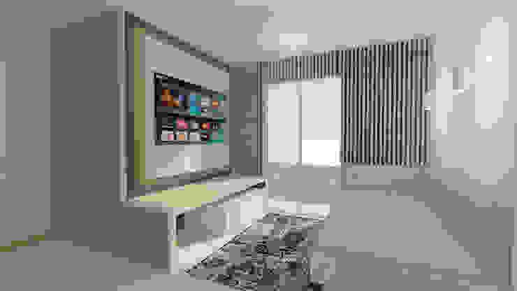 SALA DE TELEVISIÓN Salas multimedia de estilo minimalista de Arquitecto Juan Zapata Minimalista