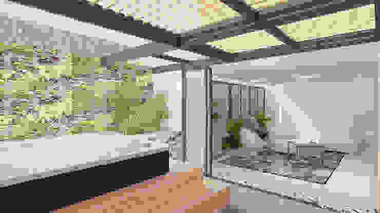TERRAZA Balcones y terrazas de estilo minimalista de Arquitecto Juan Zapata Minimalista