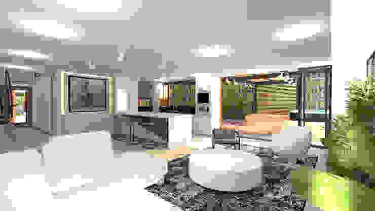 ZONA SOCIAL Salas de estilo minimalista de Arquitecto Juan Zapata Minimalista