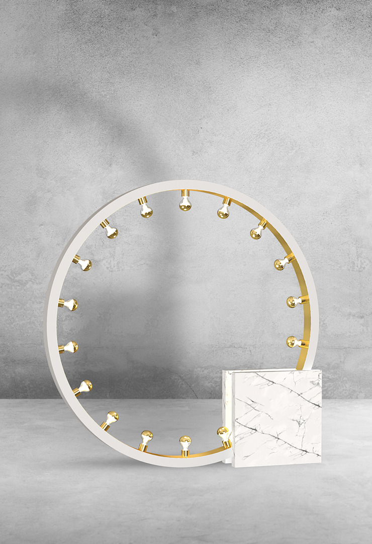 Collection of Marble lamps designed by International Fashion Designer de Luxury Chandelier Moderno Mármol