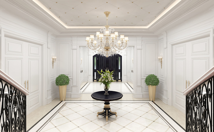 Entrance Hall Sia Moore Archıtecture Interıor Desıgn Classic style corridor, hallway and stairs