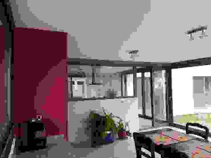 Dario Basaldella Arquitectura Modern Living Room Concrete Red