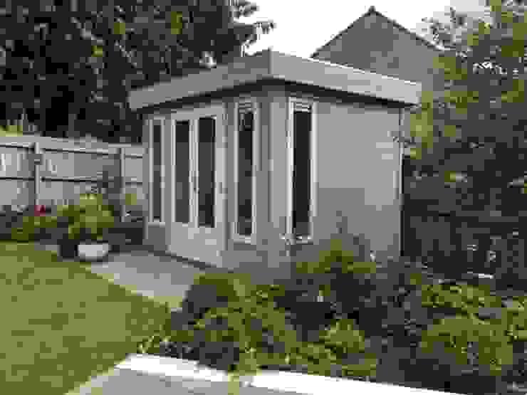 Garden Office Modern study/office by Garden Affairs Ltd Modern Wood Wood effect