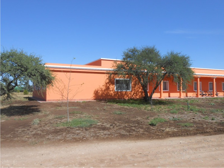 Dario Basaldella Arquitectura Country house Bricks Orange