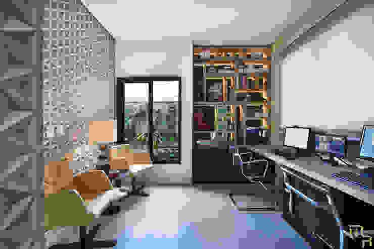 Home Office Marcela Rocca Arquitetura & Interiores Escritórios modernos