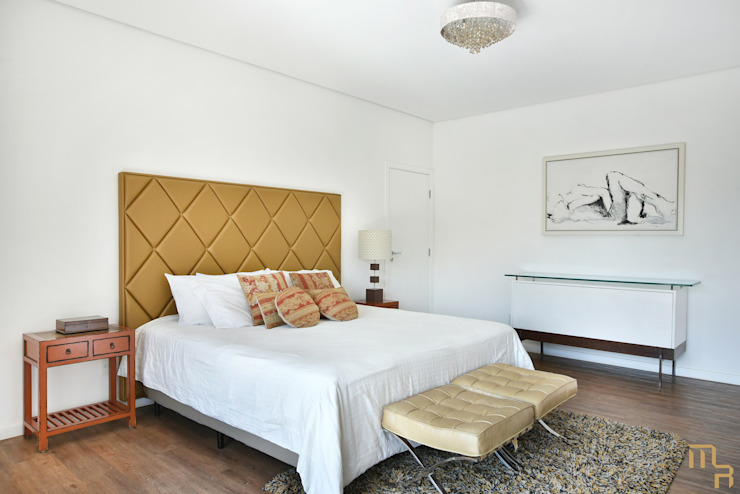 Suite Principal Quartos modernos por Marcela Rocca Arquitetura & Interiores Moderno