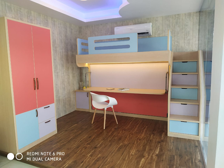 Kids room, Bunk bed, Study, Bedroom Guest Bedroom Comfold