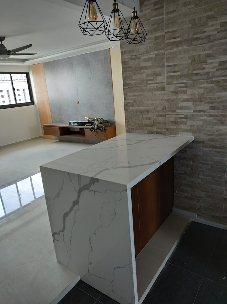 "Renovation ""Like a Condo"" 69 Builder Pte Ltd Modern living room"