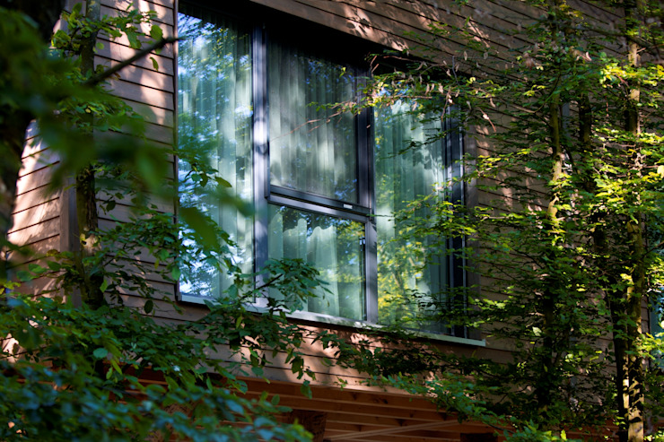 Cuartos de estilo ecléctico de Kneer GmbH, Fenster und Türen Ecléctico