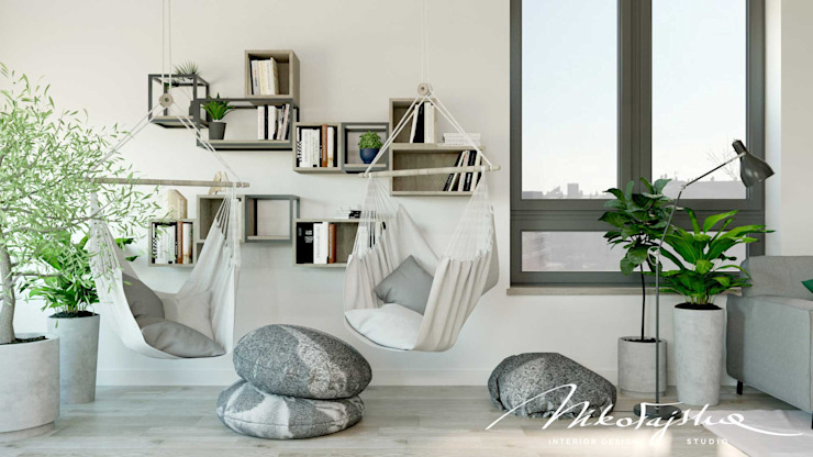 MIKOŁAJSKAstudio Salones de estilo moderno