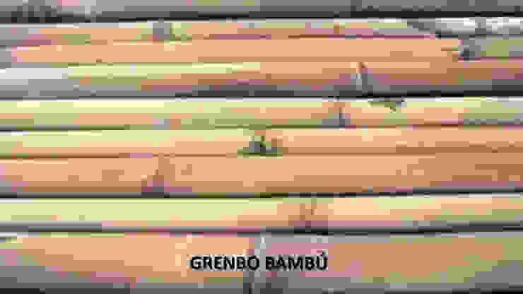 GRENBO Paisajismo de interiores Bambú Acabado en madera
