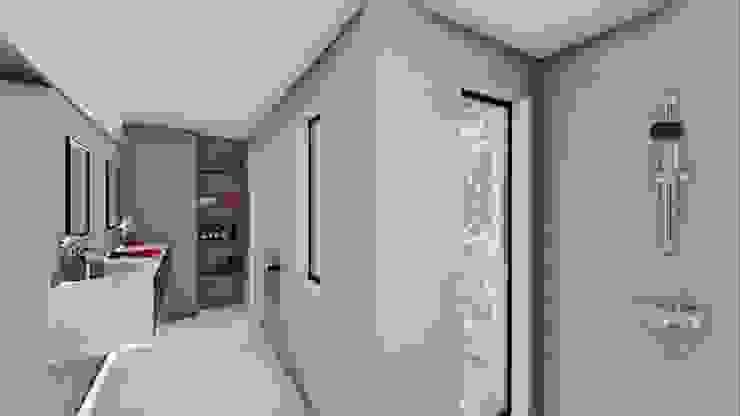 STUDIO ARCHITETTURA SPINONI ROBERTO Modern corridor, hallway & stairs