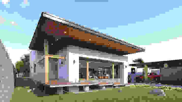 Fachada Principal Merarki Arquitectos Casas modernas