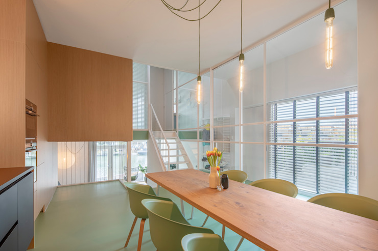 Modern Dining Room by ÈMCÉ interior architecture Modern Wood Wood effect