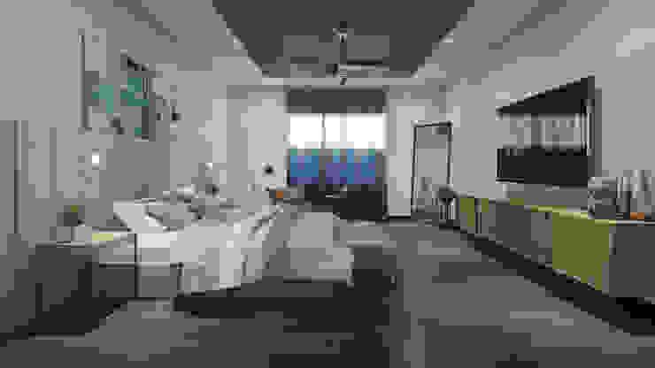 Recámara de Visitas Merarki Arquitectos Dormitorios modernos