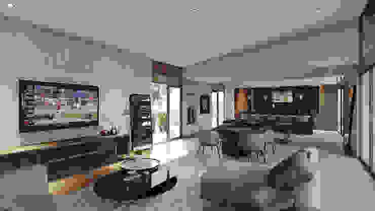 Área de Juegos - Bar Merarki Arquitectos Salones modernos
