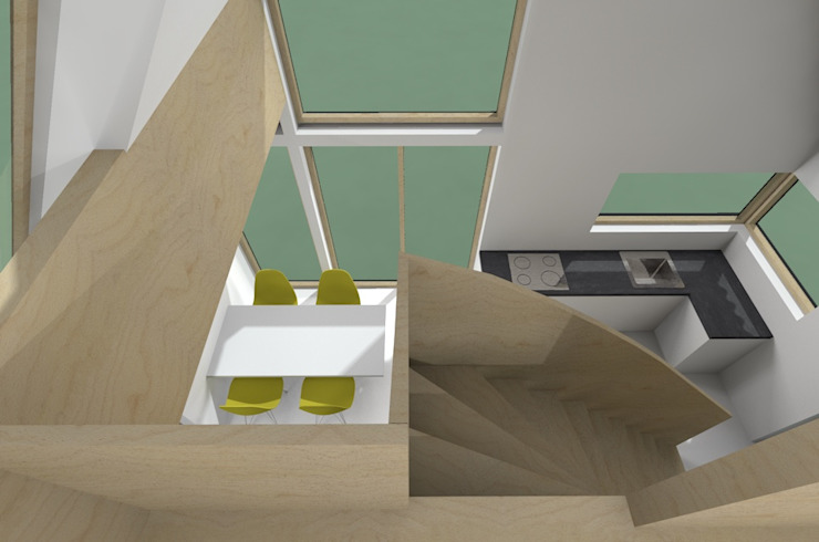Zicht vanaf verdieping van Kwint architecten